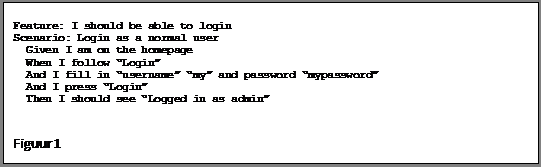 Tekstvak: Feature: I should be able to login